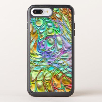 Violet Turquoise Orange Pink Retro Swirl Pattern Speck iPhone Case - retro gifts style cyo diy special idea