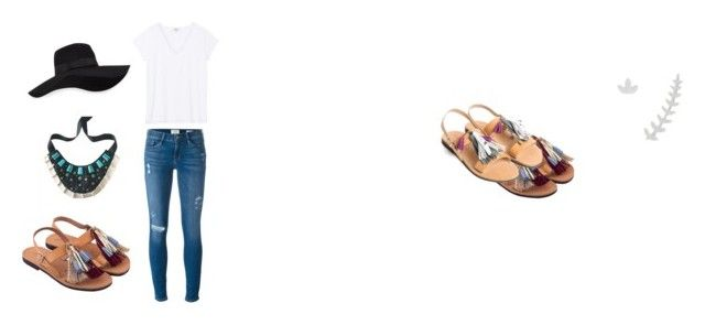 """Summer Set"" by ivybird8 on Polyvore featuring Frame Denim and San Diego Hat Co."
