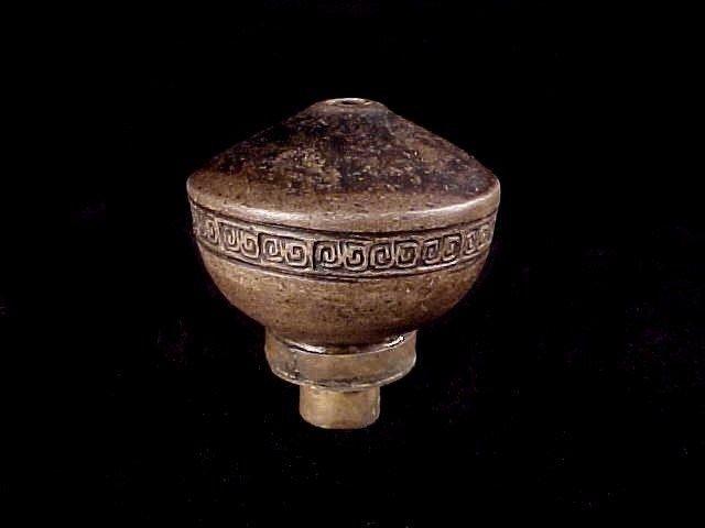 Rare Antique Chinese Ceramic Tobacco Damper Pipe Bowl Mid