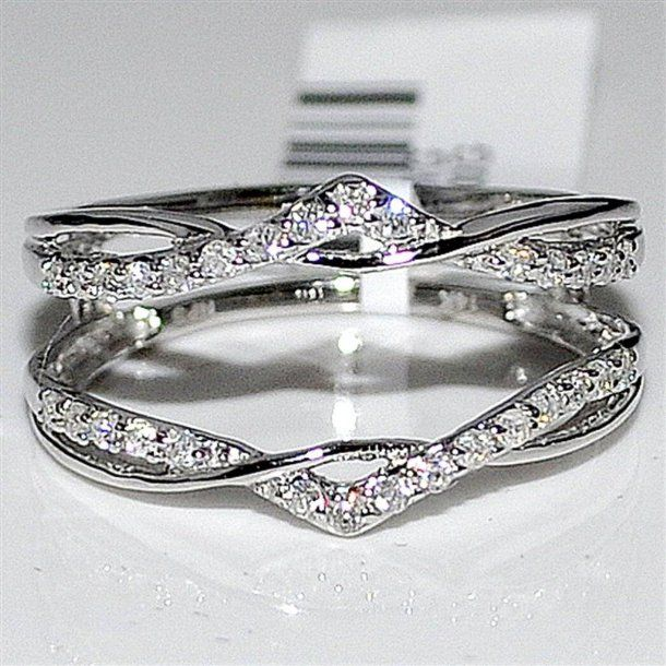 enhancer ring guard this would make a simple band really stand out - Wedding Ring Guards