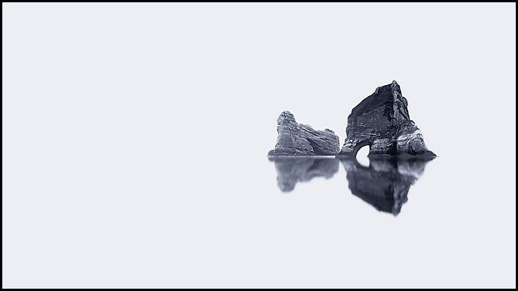 Archway Islands Abstract - I've gone for something WAAAY out of left field with this panorama. An abstract black and white of the famous Archway Islands at Wharariki Beach - love the place!