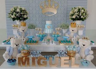 ANALU FESTAS: Chá de bebe ursinho principe para Miguel