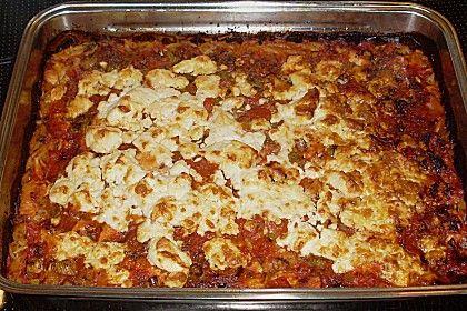 Griechische Reisnudeln mit Geflügel und Schafskäse (Rezept mit Bild)   Chefkoch.de