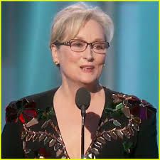 meryl streep calling out trump at the golden globes I love her!