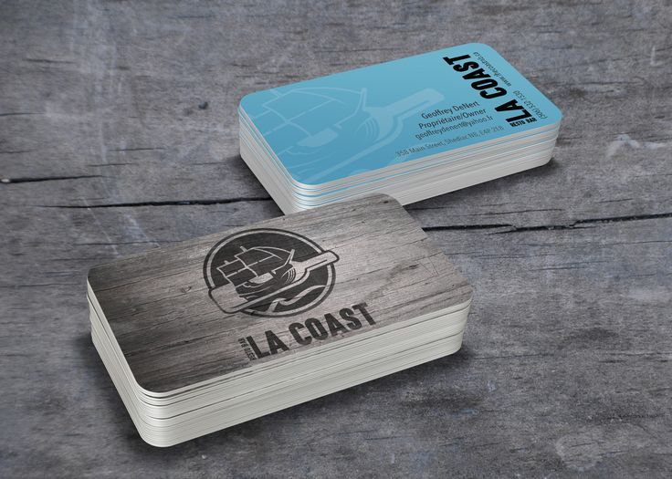 New business cards for LA COAST in Shediac, NB