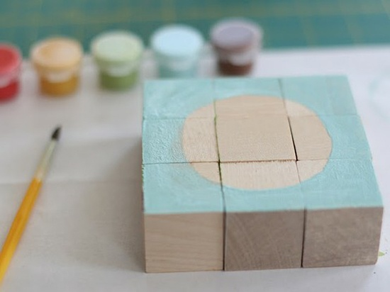 puzzle blocks from say yes to hoboken: For Kids, Puzzles Blocks, Paintings Blocks, Blocks Puzzles, Puzzles Crafts, Woods Blocks, Diy'S Gifts, Wooden Blocks, Diy'S Paintings