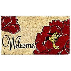 image of Welcome Poppy Coir Door Mat Insert 19.99