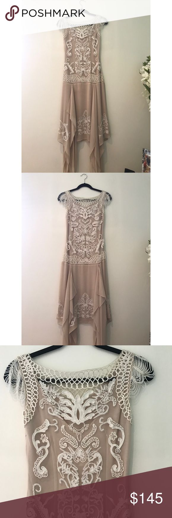Sue Wong Antique Beaded Mesh Dress Sue Wong Nocturne Dress in Champagne -  Size: 2 Antique Dress Beaded Mesh Great for an event or wedding Sue Wong Dresses Wedding