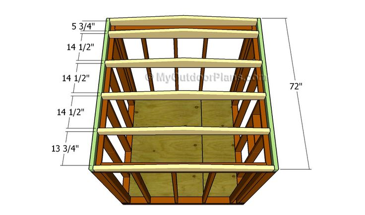 Simple Shed Roof Plans Diy Outdoor Projects Pinterest