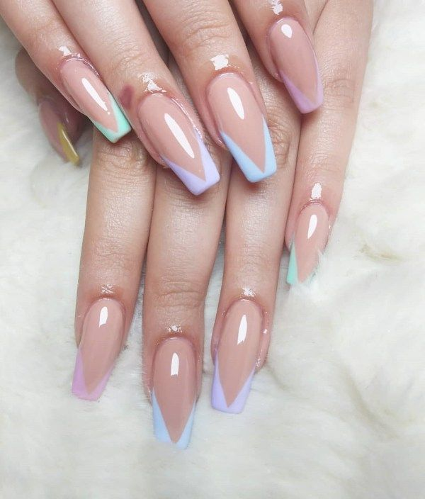 70 Beautiful Different Color Coffin Nails Ideas Nails Coffin Nails Nail Colors