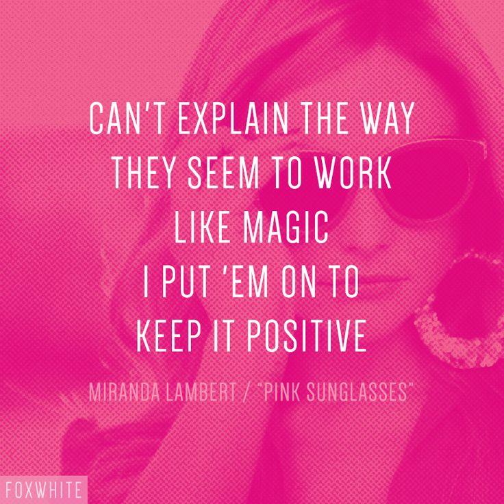 """Miranda Lambert – """"Pink Sunglasses"""" song lyrics"""