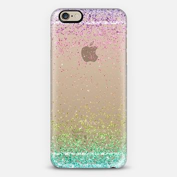 Colorful Ombre Sparkly Glitter Burst iPhone 6 case by Organic Saturation | Casetify