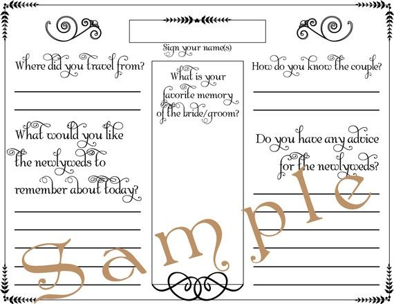 guest book pages template
