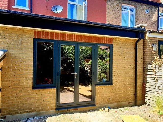 French Doors With Side Top Opening Windows Removal Of The Customers Old Doors And Install Of The New Set Rip Out French Doors Old Doors Sliding Folding Doors