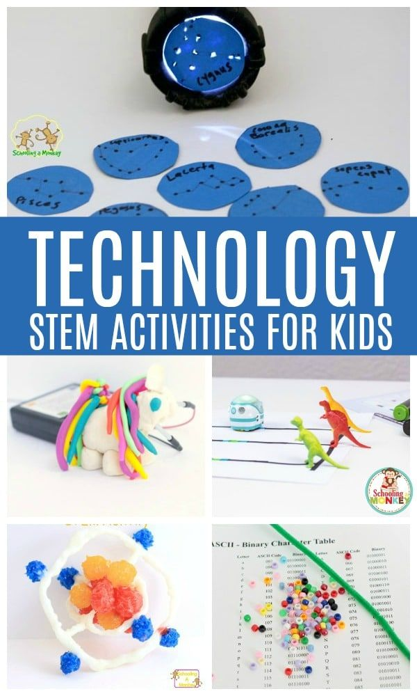 Technology activities for kids help prepare kids for life and encourage the development of logic, programming, problem solving, and creative thinking. Make your STEM activities a lot more interesting with these technology-based STEM challenges for kids! STEM education is a lot of fun with technology! #technology #technologyactivities #kidsactivities #activitiesforkids #stem #stemed #codingforkids #coding #stemactivities #handsonlearning