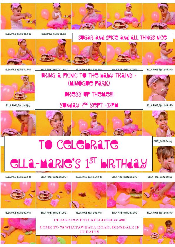 Ella´s birthday invite