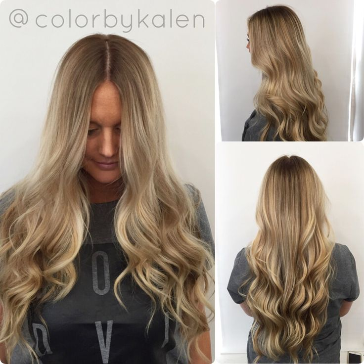 Blonde Sombre Smudge Root Balayage Blonde Long Hair