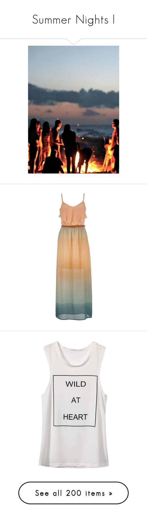 """Summer Nights I"" by pocahaunted666 ❤ liked on Polyvore featuring backgrounds, dresses, vestidos, maxi dresses, mango, chevron maxi dresses, ombre maxi dresses, chevron striped maxi dress, ombre dresses and ruffle maxi dress"