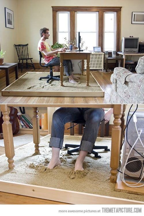 They told me to leave the computer and enjoy nature… Nice idea, but you will be cleaning sand off of every surface of your house for the next 50 years.