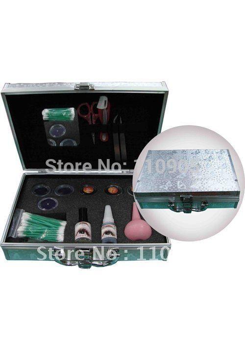 37.90$  Buy here - http://aliuxa.shopchina.info/go.php?t=542226484 - Sliver Eyelash Extension Kit for Trainning,Eyelash Comb Brush,Eyelash GLue Pallet,Eyelash Under Eye Pads, 37.90$ #buyininternet
