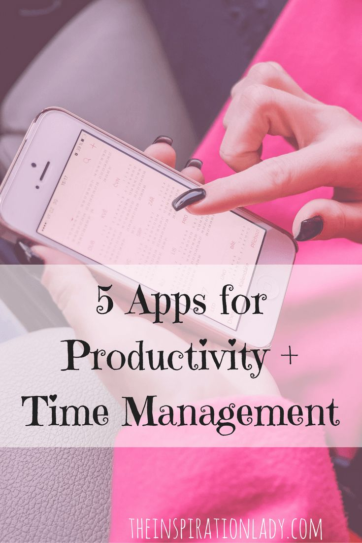 5 smart phone apps that can help improve your time management and productivity!