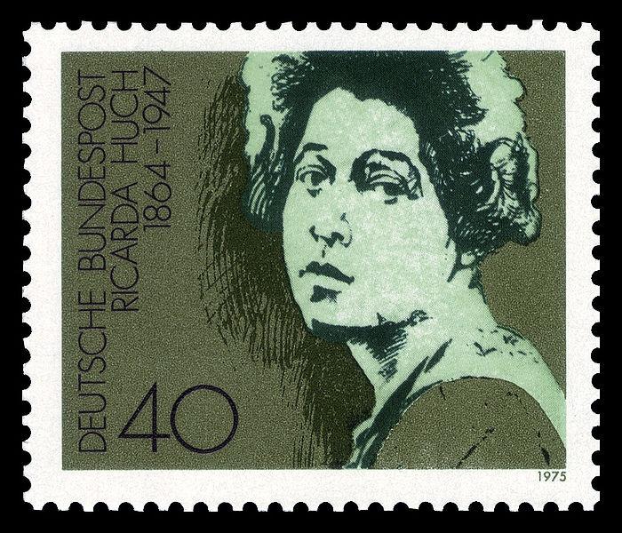 stamp series great german women (II), Ricarda Huch (1864-1947)