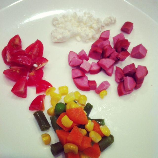 hotdog mixed veg