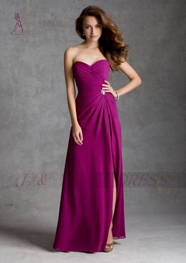 dark fuschia bridesmaid dresses