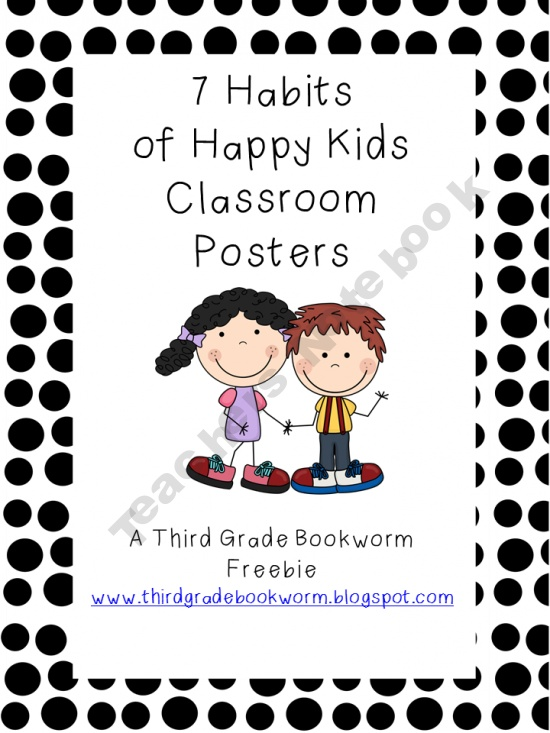 7 habits posters7 Habits, 7Habits, Posters Sets, Happy Kids, Kids Classroom, Classroom Posters, Third Grade, Classroom Ideas, Grade Bookworm