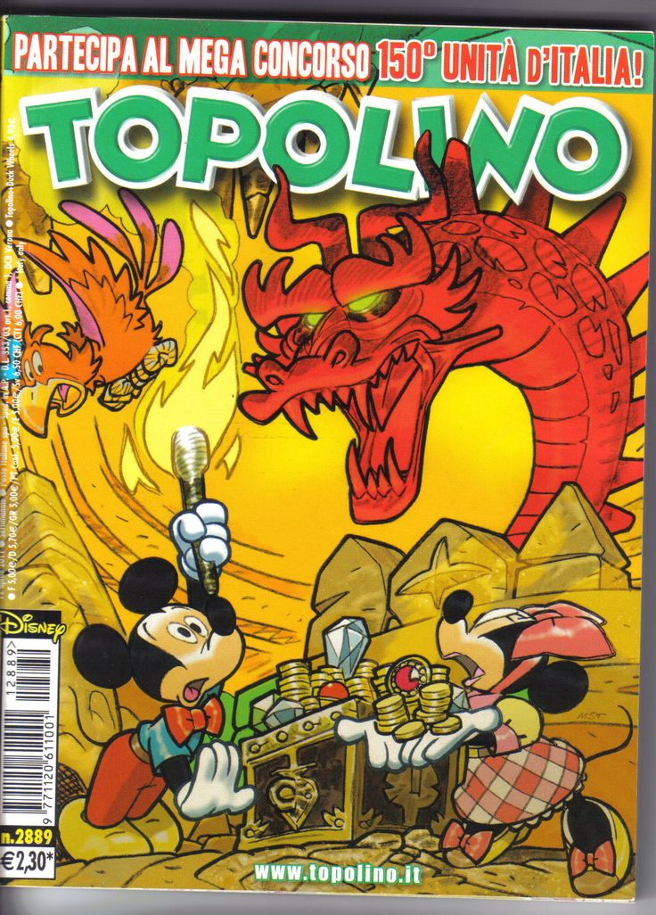 Italy - Topolino (Italian)  Scanned image of comic book (© Disney) cover