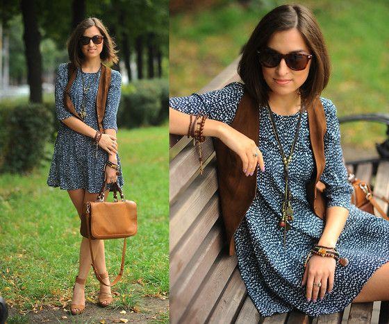 Zara Babydoll Dress, Hand Made Vest, Nature Bijoux Stone Bracelet, Zara Bag, Bershka Heeled Sandals http://www.yourseureka.ru/