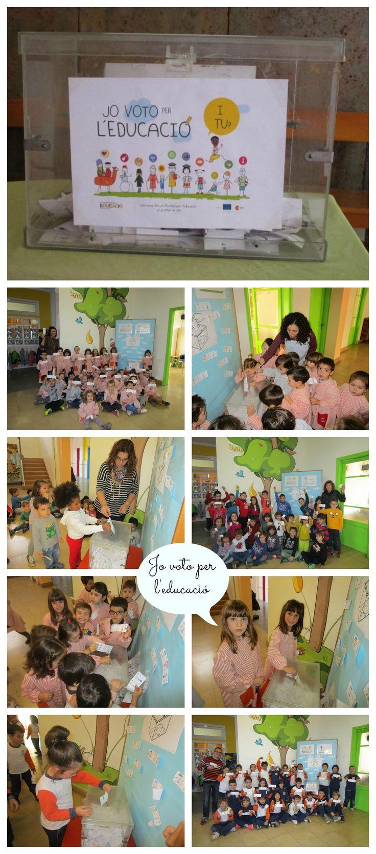 Participació d'Infantil i cicle inicial de Primària a la Campanya mundial #Jo voto per l'educació, i tu? #Yo voto por la educación, y tú?
