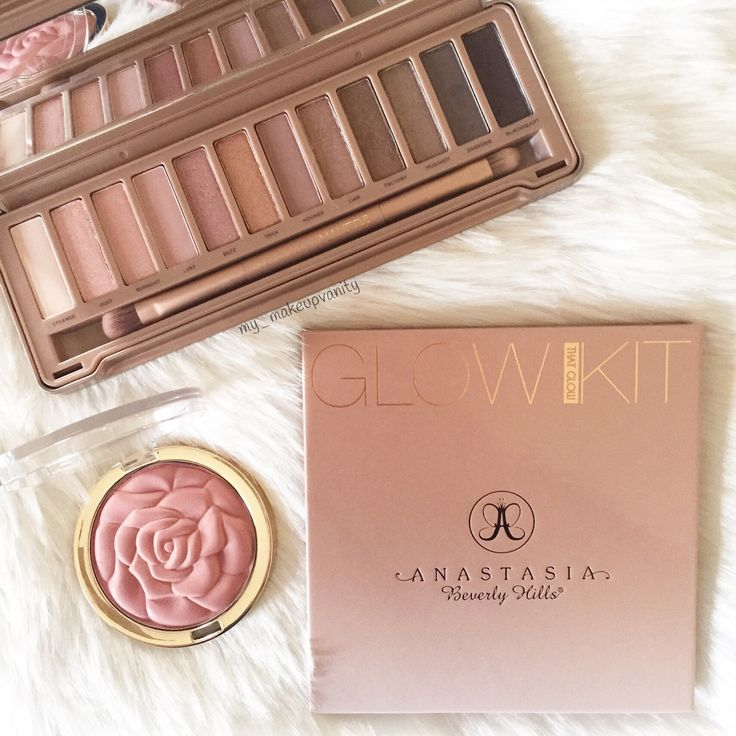 "urban decay naked 3 palette $54.00// Anastasia Beverly Hills Glow Kit $40.00// milani rose powder blush romantic rose $6.29 //  Want to receive free makeup download the app Mercari and use my code "" ZXXVNW for free credits  @Gabbzx"