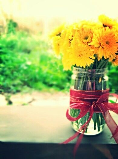 yellow flowers in my can and in my garden...  -E.V.E-