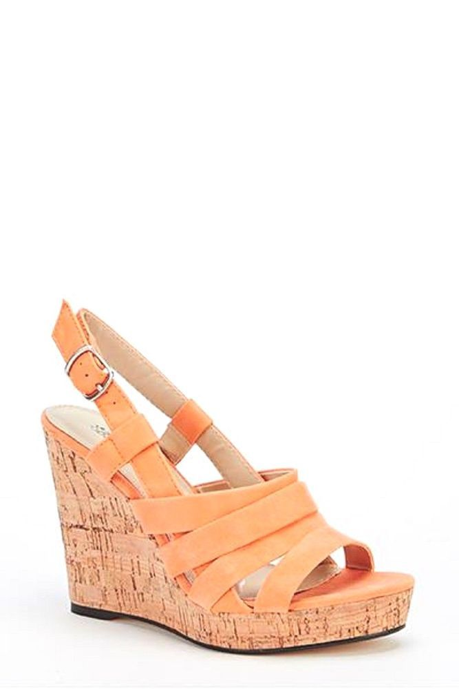 Womens Ladies Coral Faux Suede Platform High Wedge Heel Shoes Sandals Size 8 New Useful Info: - Standard Size - Standard Fit - By Belle Women - Coral In Colour - Heel Height: 4 Inches - Platform: 1 Inch - Cork Effect Heel - Buckle Side Fastening - Strappy Detail - Faux Suede/Synthetic Leather Upper #shoes #sandals #coral #wedges #highheels #strappy #summer #shopping #style #fashion #footwear #forsale #womensfashion #womens #ladies #ebay #ebayseller #ebayshop #ebaystore