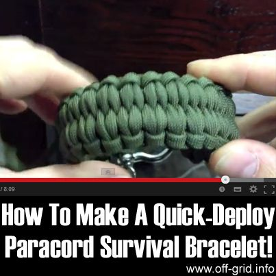 How To Make A Quick Deploy Paracord Survival Bracelet - See more at: http://off-grid.info/blog/how-to-make-a-quick-deploy-paracord-survival-bracelet/#sthash.jETNuMqH.dpuf