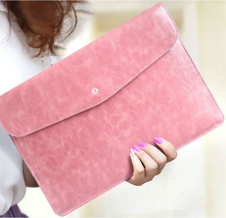 Cool Brown Pink Leather Bags Cases For 12 Inch Macbook MB1202 8