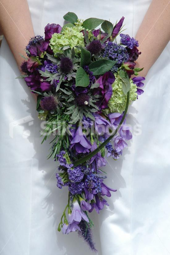 Gorgeous, Scottish Inspired Thistle Bridal Wedding Bouquet