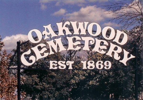 Oakwood Cemetery Sign
