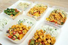 60 min mealprep = 4 maaltijden  Maaltijd voorbereiden mealprep gezonde lunch