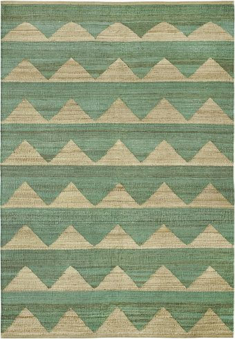 Hemp rug Arctic Dark mint by Brita Sweden