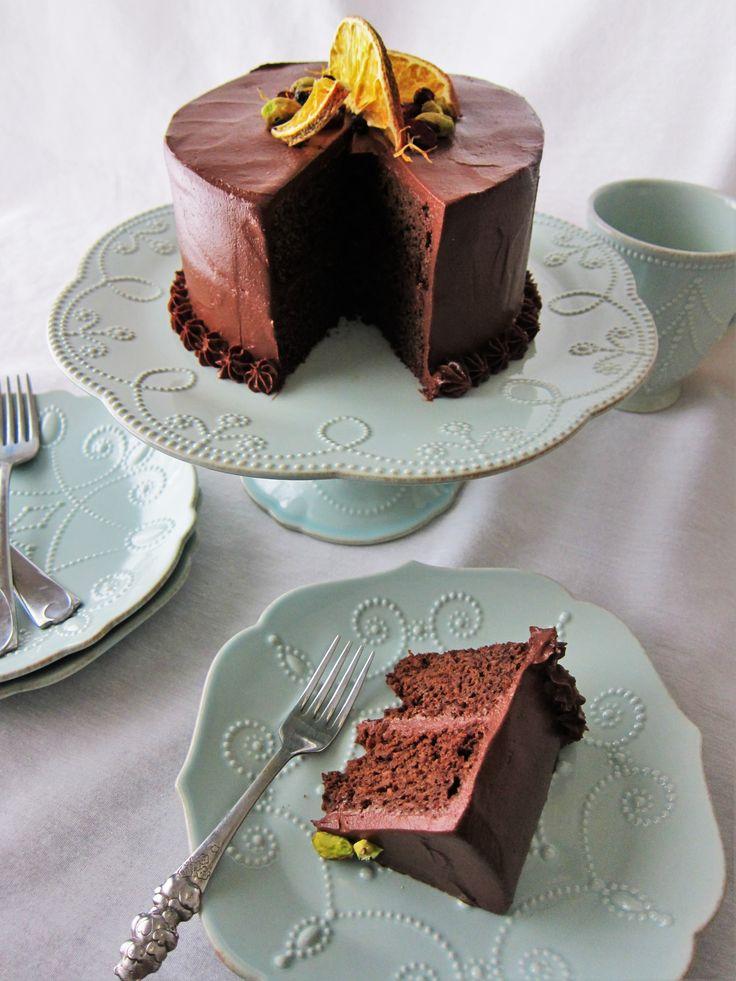 Vegan Chocolate Carrot Cake- sub flour for paleo | Fragrant Vanilla Cake