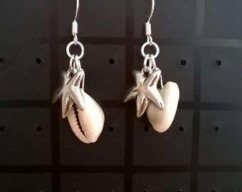 Ze verkoopt zee schelpen... Handgemaakte sieraden Oorbellen