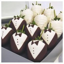 Tuxedo and Wedding Dress Chocolate Covered Strawberries