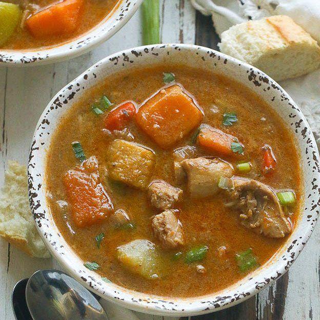 jamaican chicken and pumpkin soup is an excellent recipe