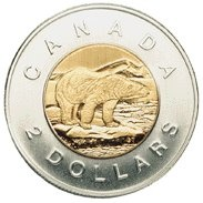 "With the introduction of the two-collar coin in 1996, the slang term ""toonie"" arose to signify a two-dollar coin."
