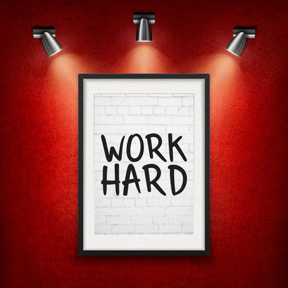 Work Hard Inspirational Quote DIGITAL от MotivationalThoughts