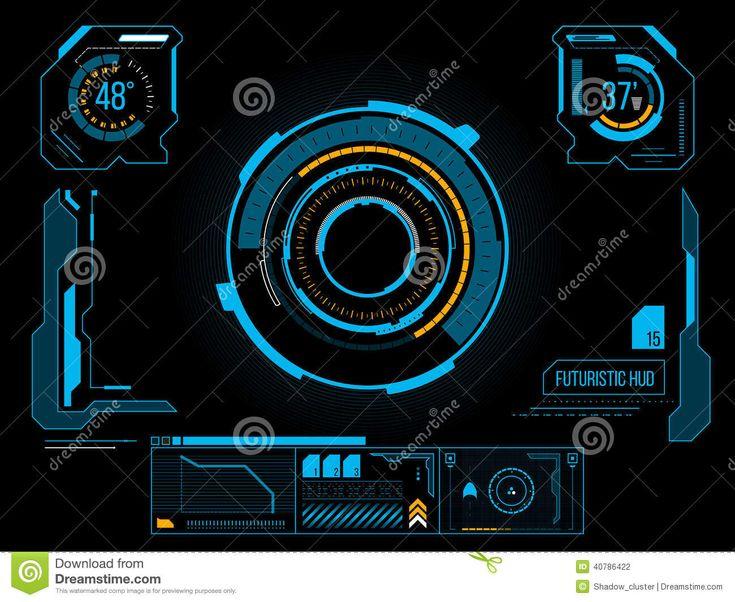 Interface Utilisateurs Futuriste HUD Illustration de Vecteur - Image: 40786422