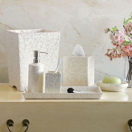 17 best images about bath accessories on pinterest - Capiz shell bathroom accessories ...
