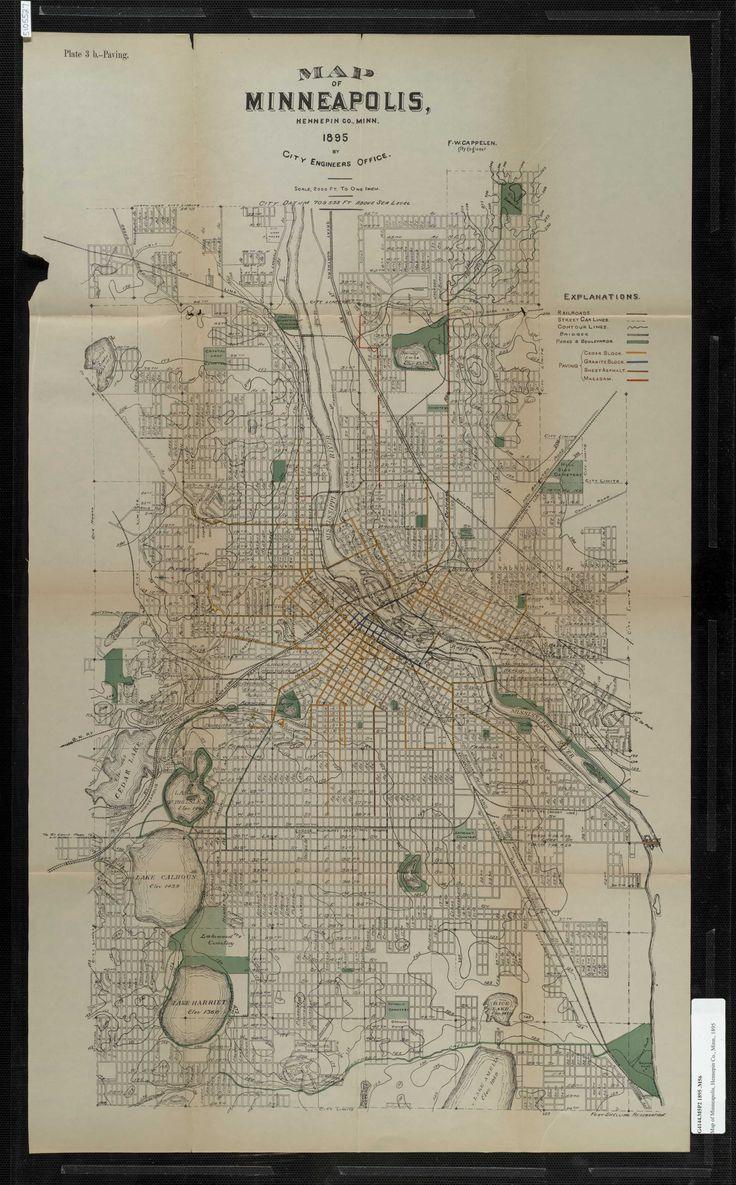 Seattle Map Funny%0A Vintage Minneapolis city map  Love vintage maps